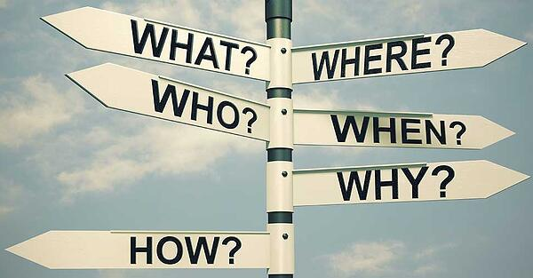 5 w's - who what when where why how