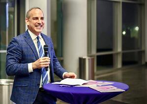 David Grossman speaking at the 30th Anniversary Celebration of Northwestern Journal of Integrated Marketing Communications in Chicago