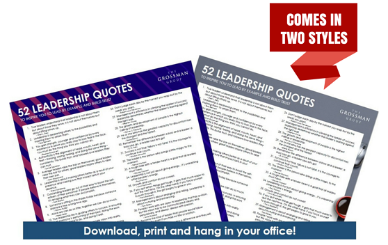 52 Leadership Quotes Poster Free Download The Grossman Group