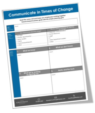 Communicate in Times of Change Tool