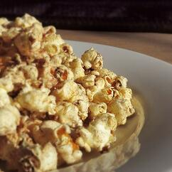 Spiced Holiday Popcorn Square
