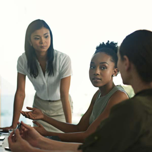 3 Women in a meeting