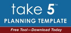 take 5 planning template